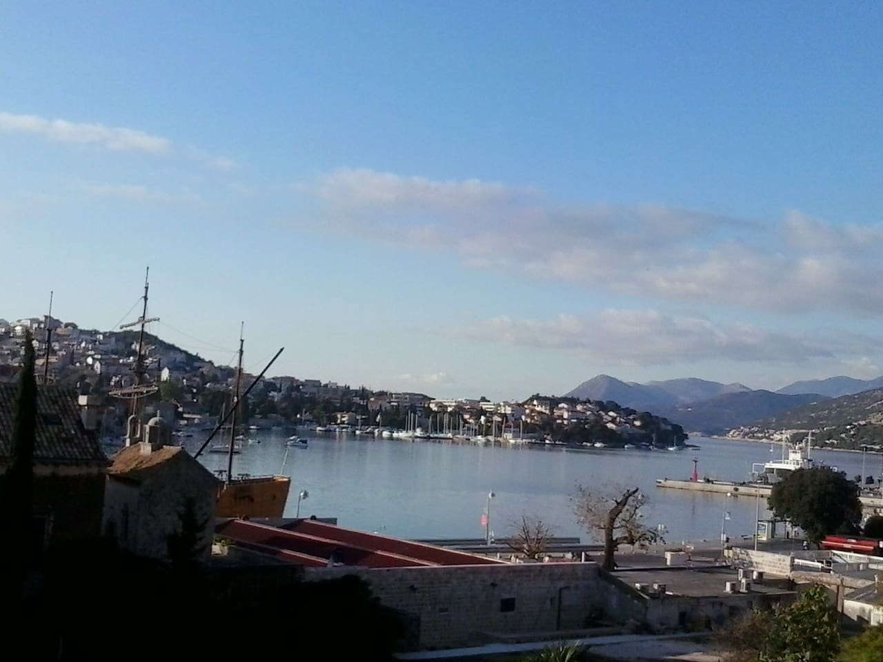 view from my property on the port of Gruž - winter time