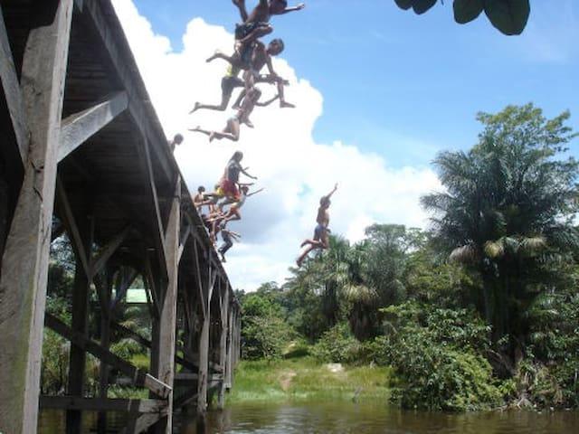 Casa para vivência na floresta, Ayahuasca Amazonia - Mapiá - Alojamento ecológico