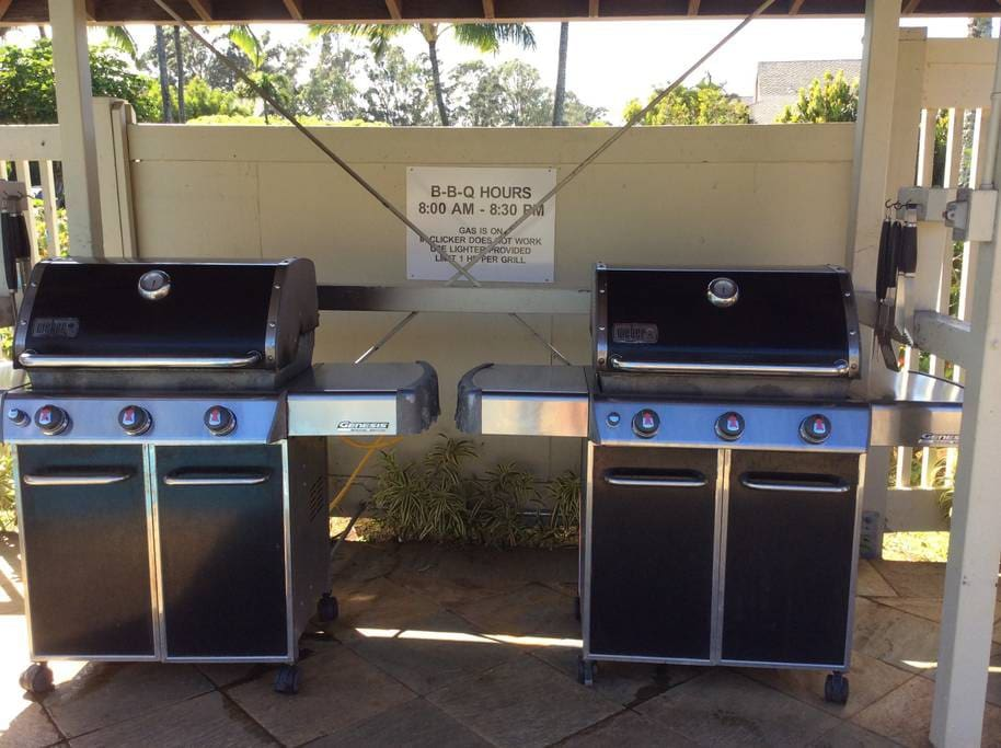 Cook something up at the BBQs in the Pool Area.