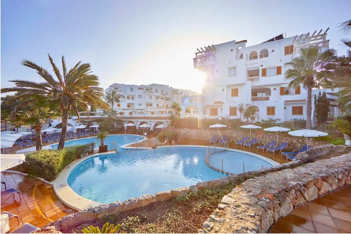 Holiday Apartment 'La Mirada 2 Gavimarhotels' with Wi-Fi, Balcony, Shared Garden & Pool; Parking Available