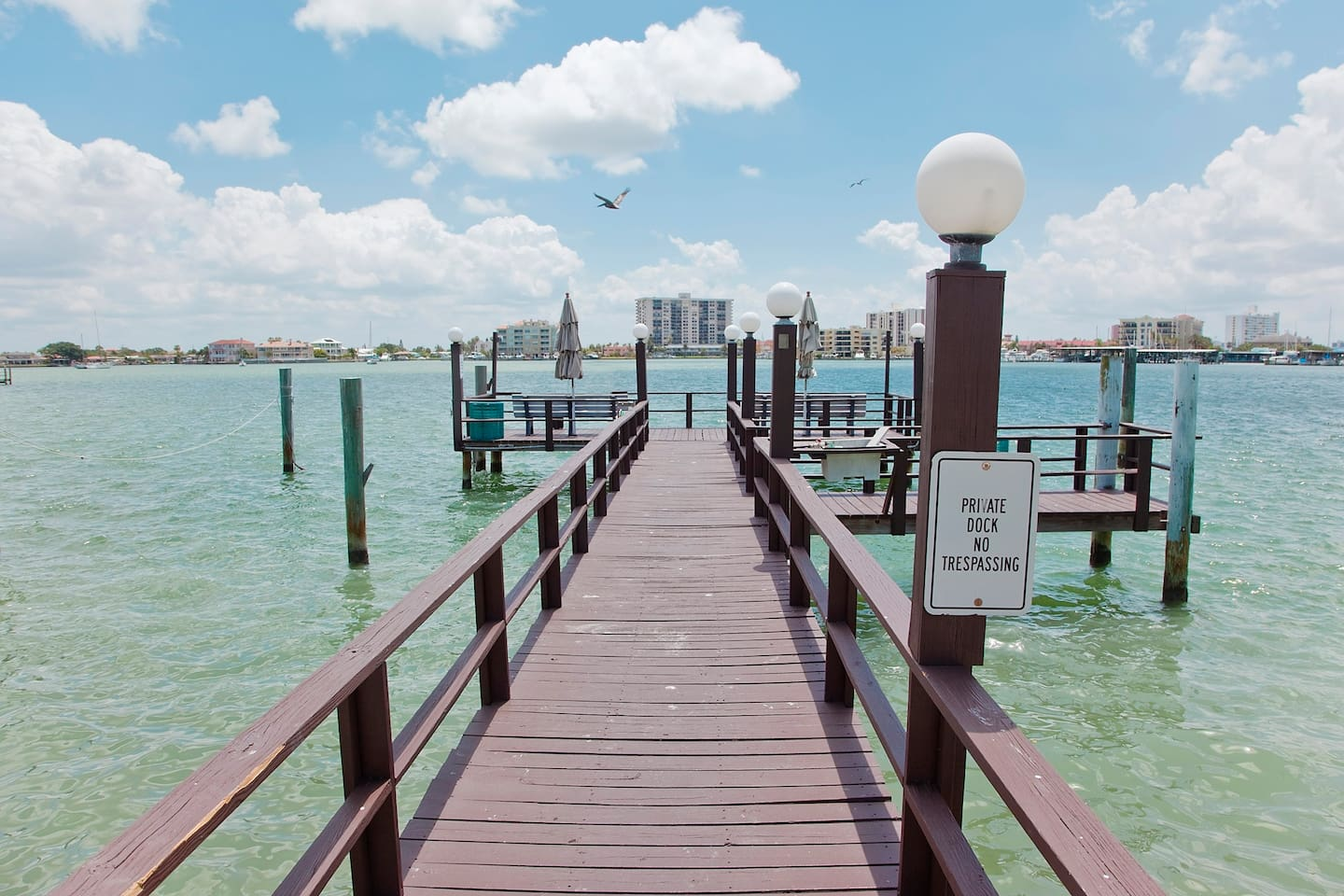 Private dock for fishing, boating or day dreaming