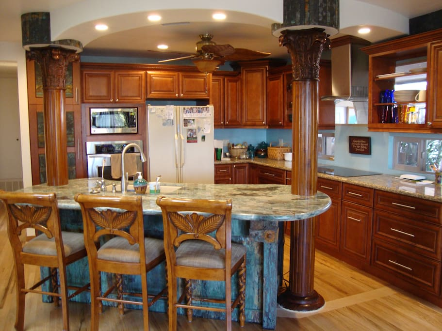 Very nicely remodeled kitchen.