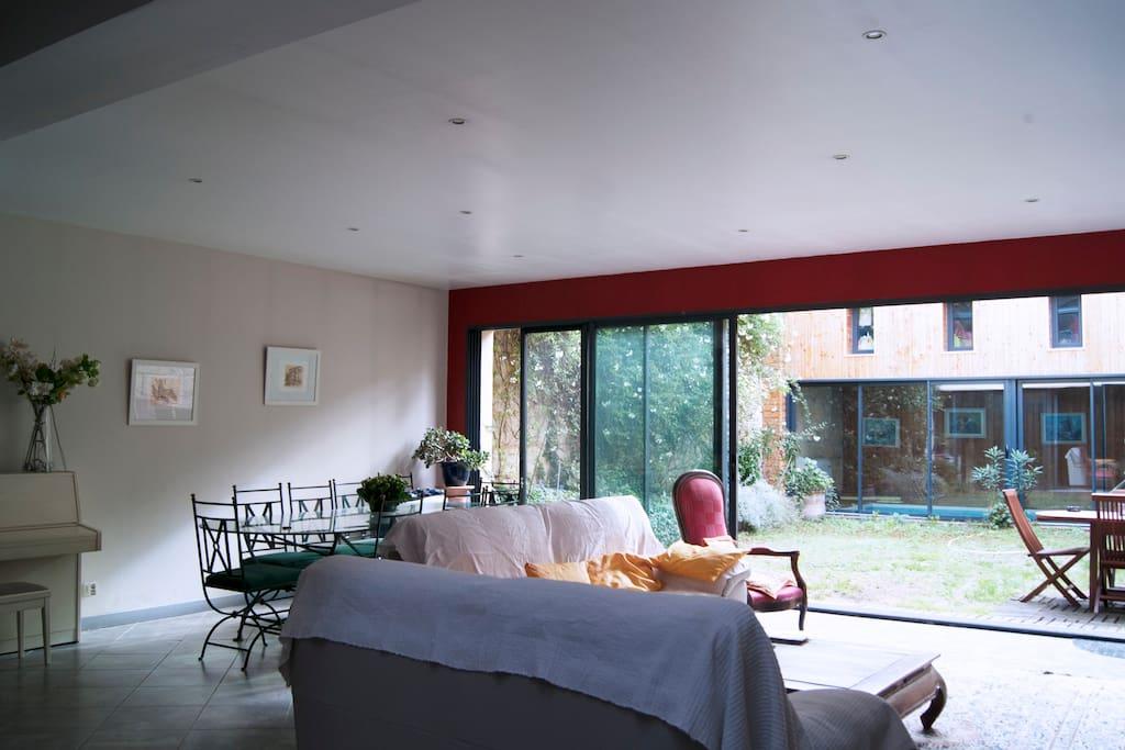 Chambre dans loft avec jardin maisons louer bordeaux aquitaine france - Loft a louer bordeaux ...