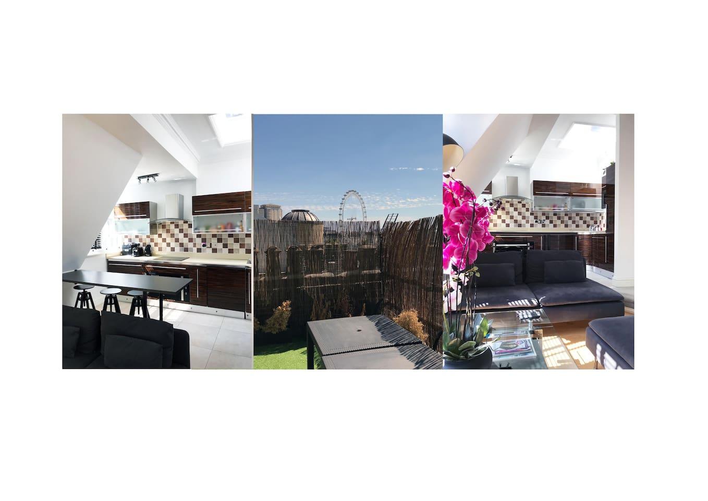 Covent garden 1 bedroom roof terrace