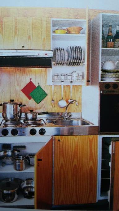 La piccola cucina funzionale