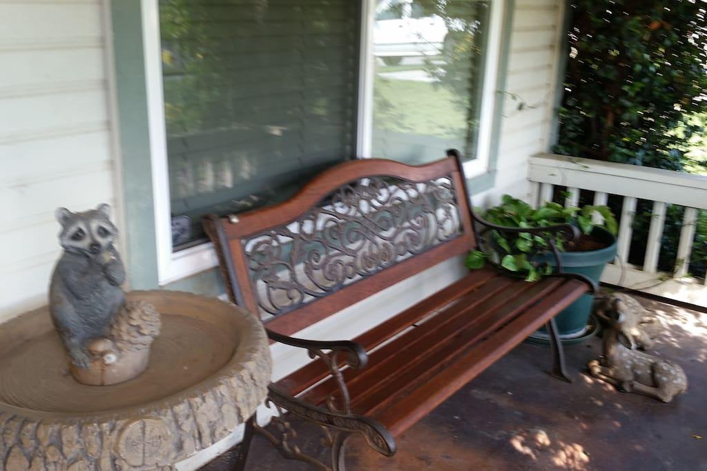 Turlock CA Covered Porch.