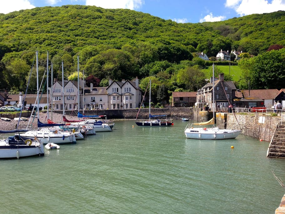 Picturesque Porlock Weir, approx 1.5 miles from our cottage in Porlock