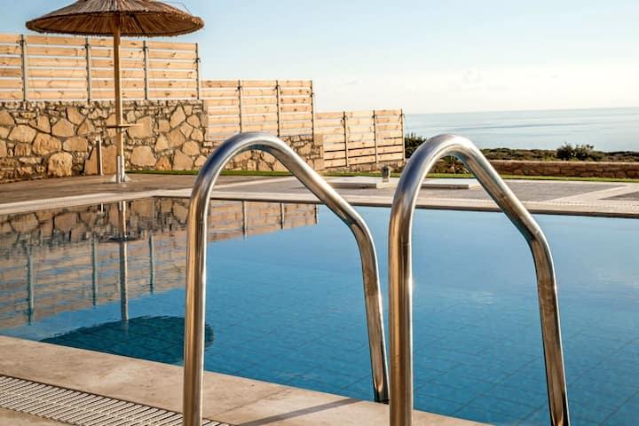 East Triopetra Blue Horizon Villa, 1 BD, pool