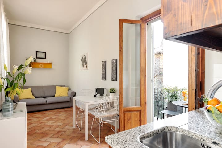 The Living room - The perfect relax area with the sofa bed x2, the TV & the private terrace