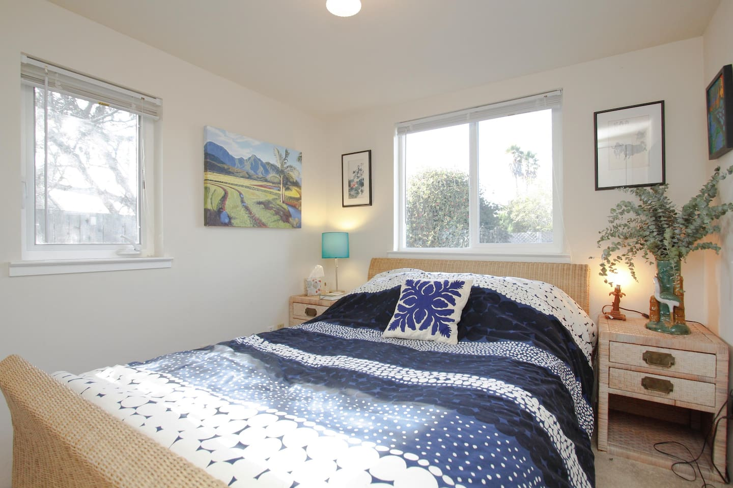 Front Bedroom - double bed with a featherbed on top, very comfy!