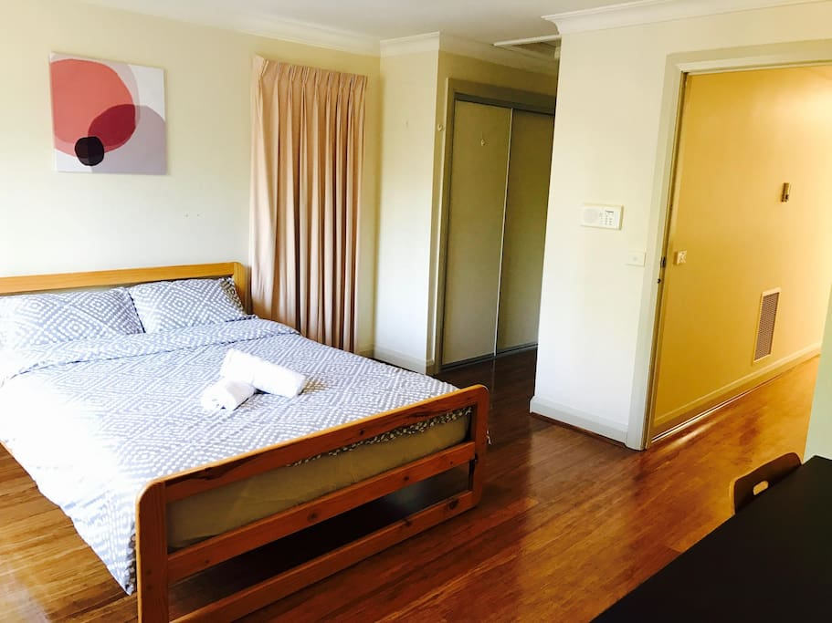 Master bedroom with walk-in wardrobe and ensuite bathroom