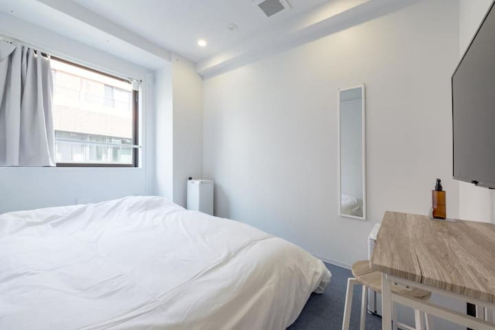 【8 minutes on foot from Kanda station】Superior Double Room・Free Wi-Fi