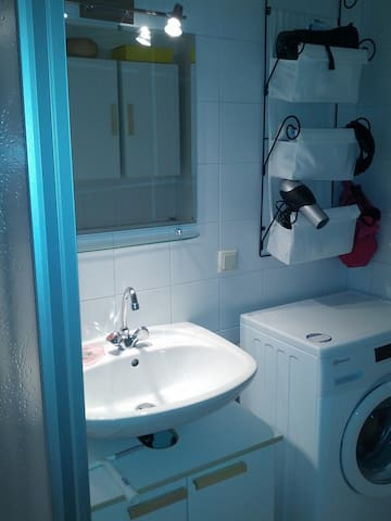 Bathroom with window (you can also use the hair dryer and the washing machine)