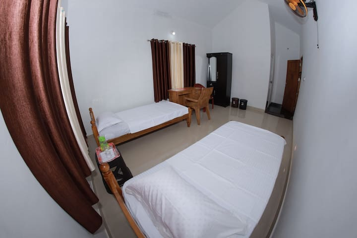 Two bed room/Double bed room with attached bath room