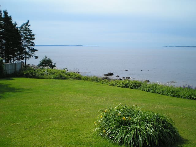 Oceanfront View from our lawn
