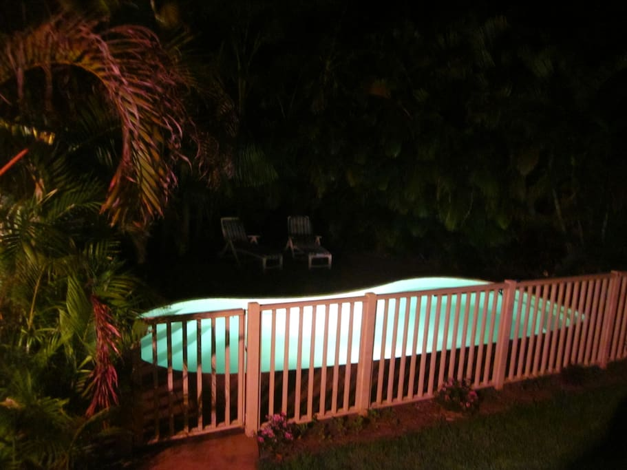You can even go for a refreshing swim at night!