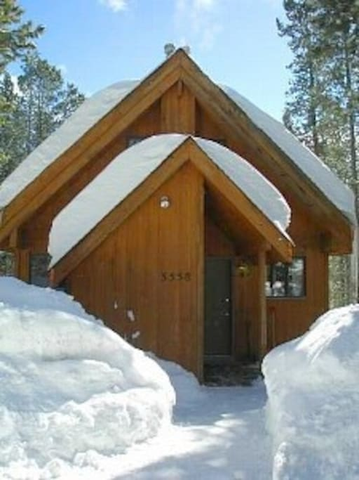 A view of our home in the wintertime