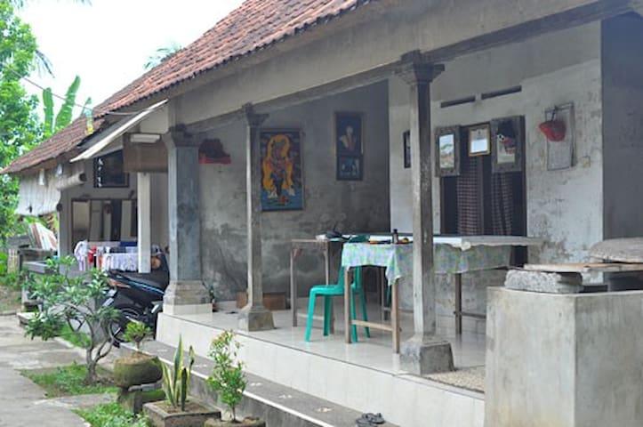 Balinese kichen & living space.