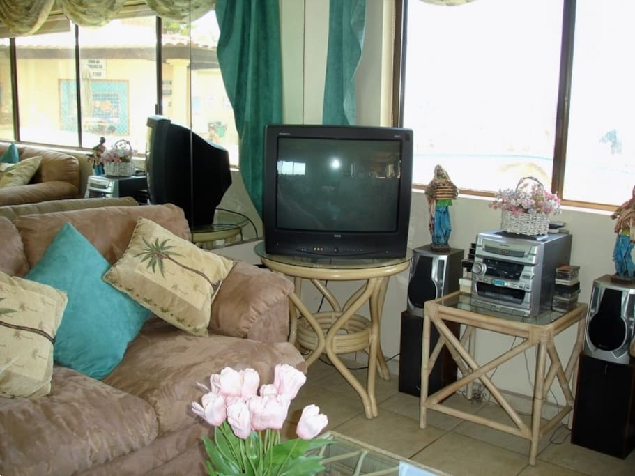 2  large cable  tvs and free wi-fi throughout condo and pool areea