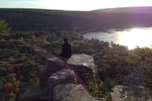 Nearby Devil's Lake State Park