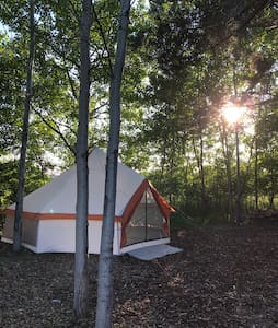 Secluded Yurt style tent at Stone Creek Farm