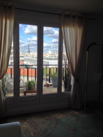 Terasse Appartement Eiffel Tower  - Vanves - Flat