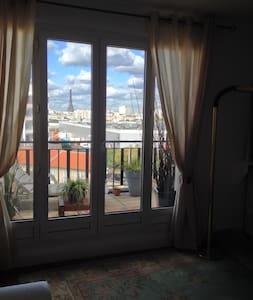 Appartement Terasse vue tour Eiffel - Vanves - Apartamento