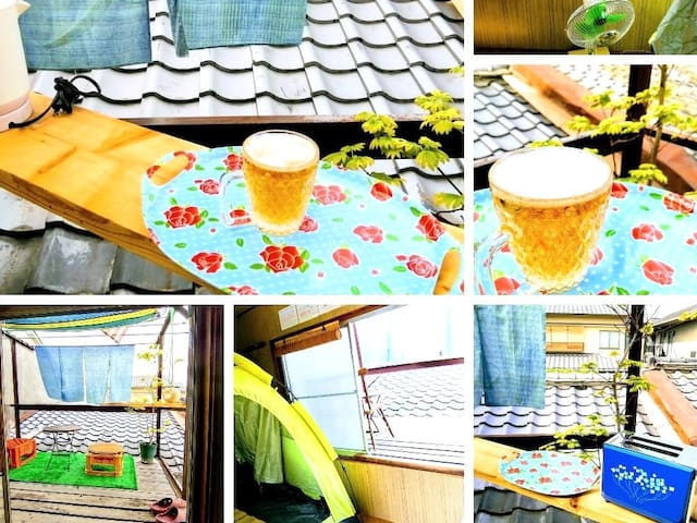 Feel like camping with balcony for 1〜2 females