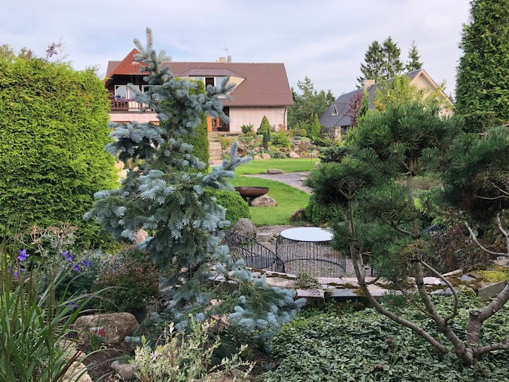 Private part of a house with a beautiful garden