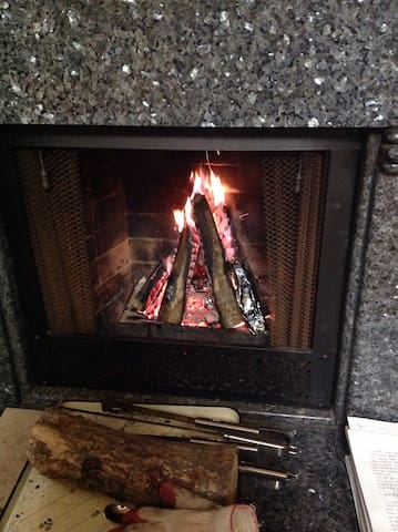 Fireplace at Winter