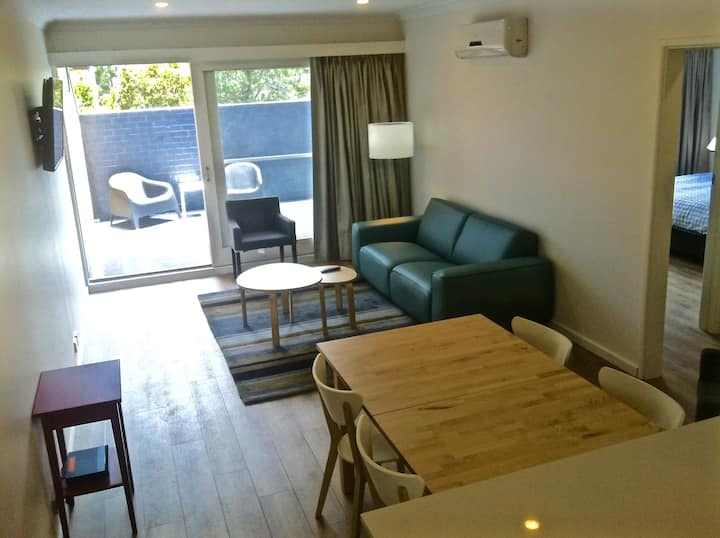 Renovated, private & secure two bedroom apartment