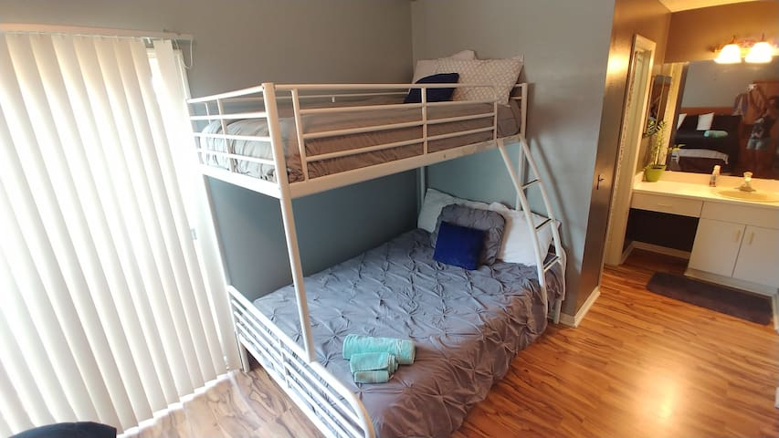 Bunk bed available for parties of 3-5