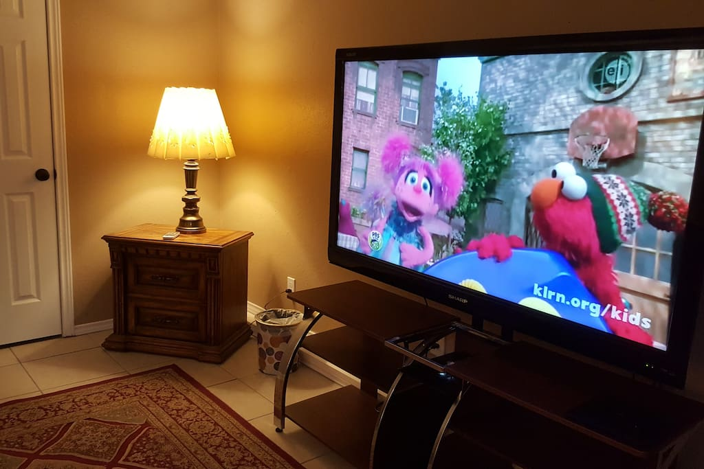 60' flat TV with Local Channels and Netflix
