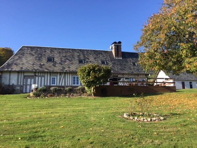 Chaumière calme proche Honfleur - Marais-Vernier - Casa