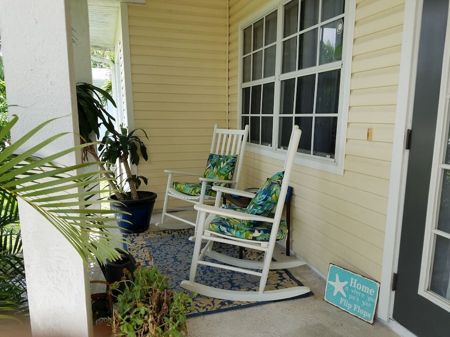 Our welcoming front porch.