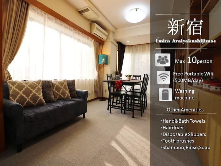 H89_【Reduction in Price】3BR 100sq/ Shinjyuku 10min