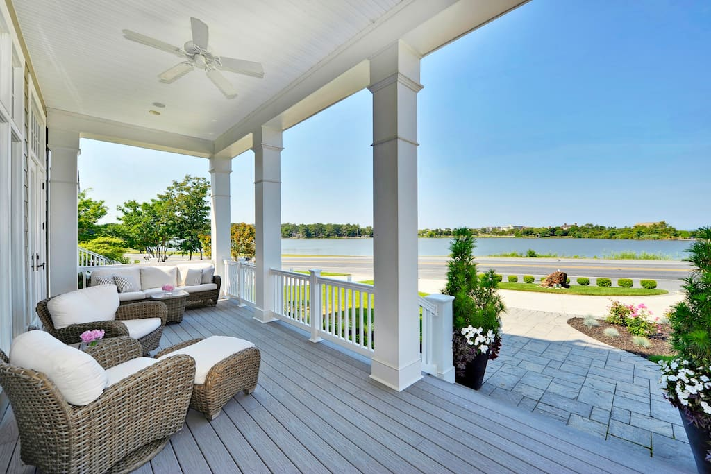 Front Porch  Overlooking Silver Lake and the Ocean