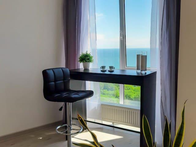 2-комнатные Апартаменты в Аркадии с видом на море