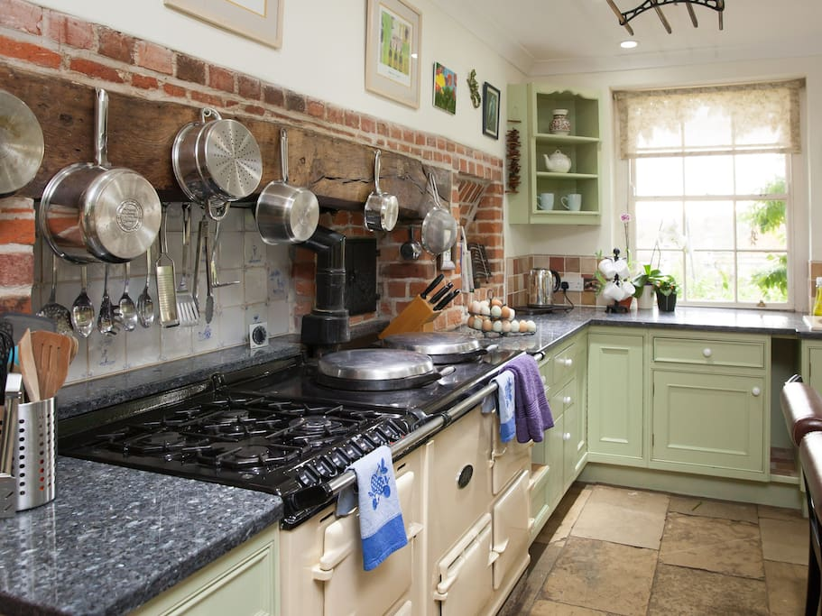 The Aga - also with gas hob and electric oven