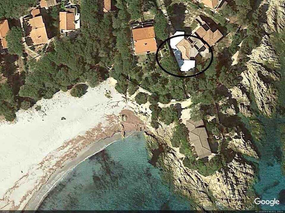 Veduta satellitare della casa