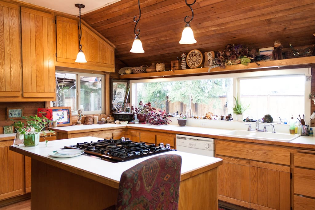 Well appointed kitchen with gas range and dishwasher. Plenty of space in the fridge, if you choose to cook your own meals