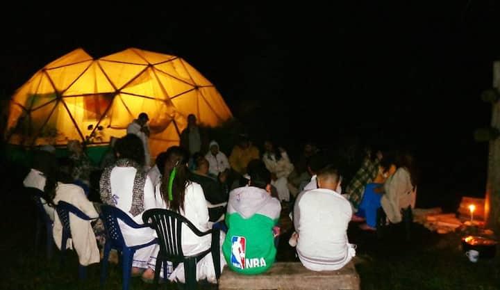 Camping ancestral medicines ceremonies retreat