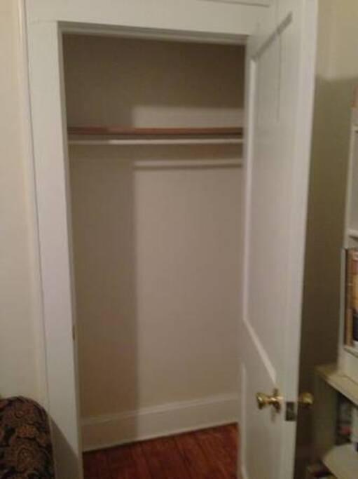 Built in closet.