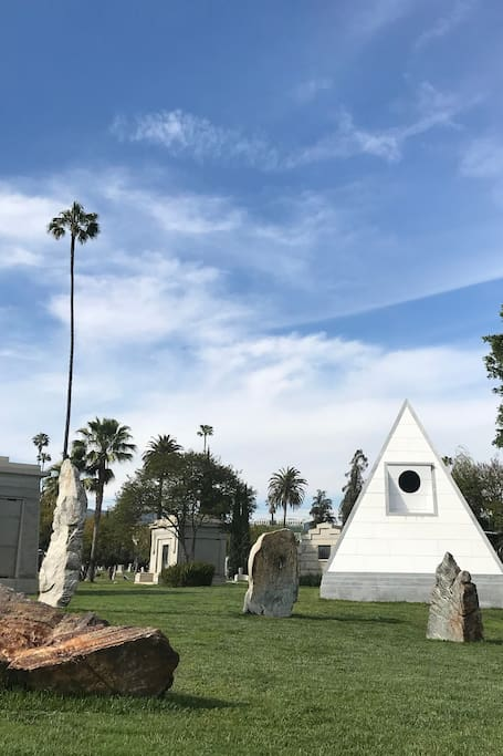 Sculptures and pyramid  mausoleum
