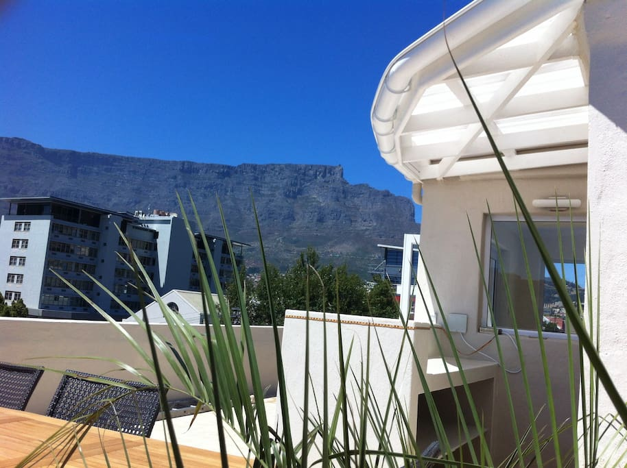 The roof terrace bar with one of the best views on Table Mountain