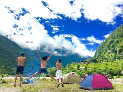 Encamp at camp Dirang -  Dirang Riverside Camping
