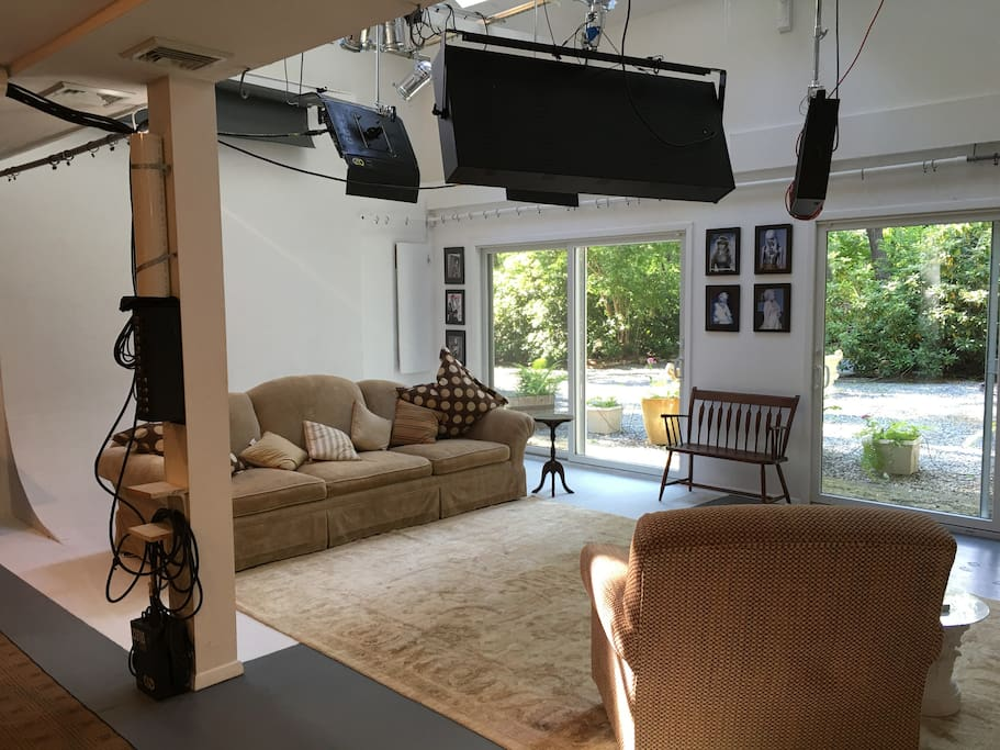Artist photographers studio when we are not working this amazing space is a relaxing oasis