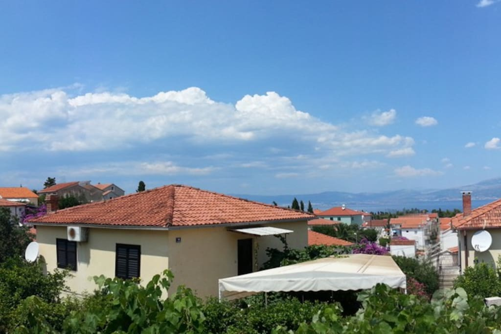 Stunning view from the apartment on a beautiful day, click on photo for panorama