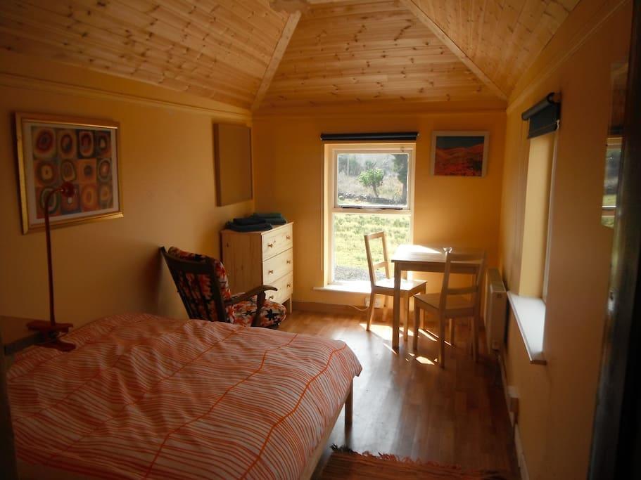 Evening sun bedroom
