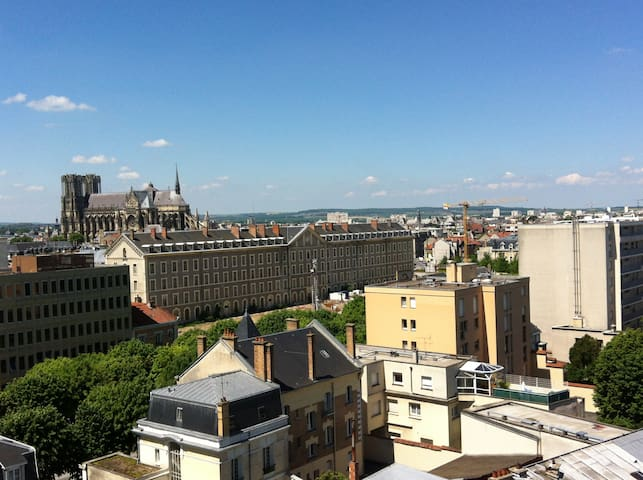 Amazing view near the city center - Reims - Appartamento